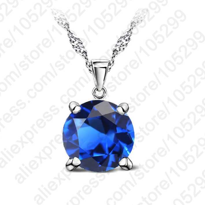 925 Sterling Silver Pendant Necklace Fashion Brand Crystal Party/ Wedding/Engagement Jewelry For Women Lovely Gift