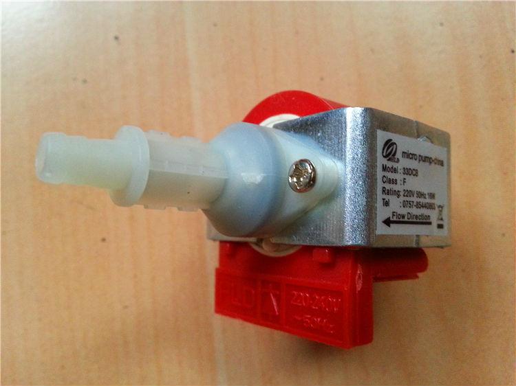 Pompe électromagnétique pompe à haute pression pompe à eau pompe à huile piston machine à café type dédié 33DCB-F puissance 220V-50Hz-16W