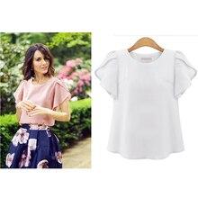 Vogue T-shirts PLUS Size Women summer Korean shirt Plain tshirt Casual Street Wear Butterfly Sleeve O-neck  Tee Tops цена в Москве и Питере