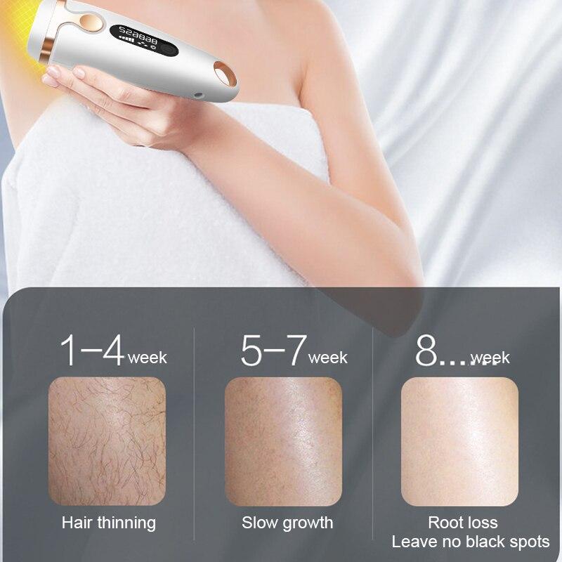 Depiladora láser IPL depilación permanente 500000 Flash táctil cuerpo pierna Bikini Trimmer fotodepiladora para mujeres Creamskin - 6