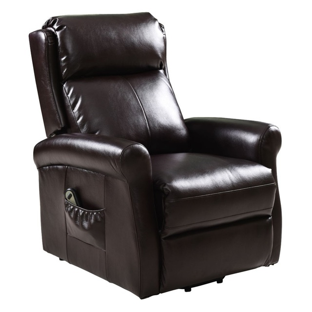 Brown Electric Lift Recliner Chair w/ Footrest 2