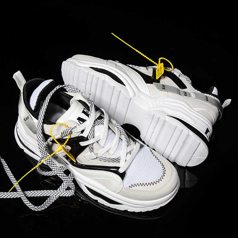 Sooneeya โฟร์ซีซั่นส์เยาวชนแนวโน้มแฟชั่นรองเท้าผู้ชายรองเท้าสบายๆ Ins ขายร้อนรองเท้าผ้าใบผู้ชายใหม่สีสันพ่อรองเท้าชายใหญ่ขนาด 35-46