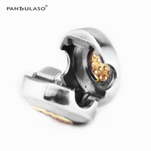 Pandulaso Golden Clip Beads Fit Silver Charm Bracelet & Neck