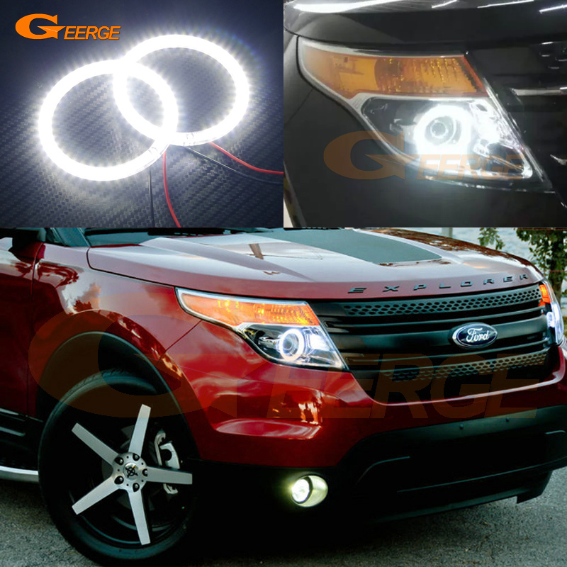For Ford Explorer 2011 2012 2013 2014 2015 Excellent led Angel Eyes Ultra bright illumination smd led Angel Eyes Halo Ring kit for toyota sienna 2010 2011 2012 2013 2014 excellent ultrabright illumination ccfl angel eyes kit halo ring angel eyes kit