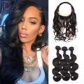 360 Lace Frontal Closure With Bundles Pre Plucked Lace Frontal Body Wave Sexay 8A Brazilian Virgin Hair With Frontal Closure