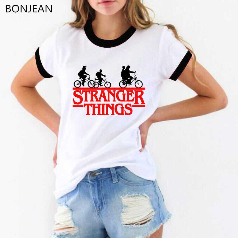 Delle donne delle parti superiori le cose sconosciuto 3 t shirt lettere stampa della maglietta divertente graphic t shirt t-shirt girocollo bianca di trasporto superiore di goccia trasporto libero