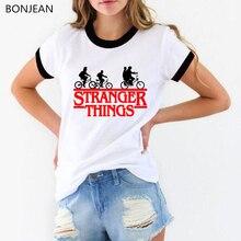 womens tops stranger things 3 t shirt letters print tshirt f