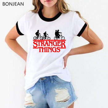 womens tops stranger things 3 t shirt letters print tshirt funny graphic t shirts  white round neck t-shirt top drop shipping blue round neck random print t shirts