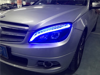 2 pieces Car Styling for Benz W204 headlights 2007 2011 C180 C200 C260 led headlight led drl H7 hid Bi Xenon Lens low beam