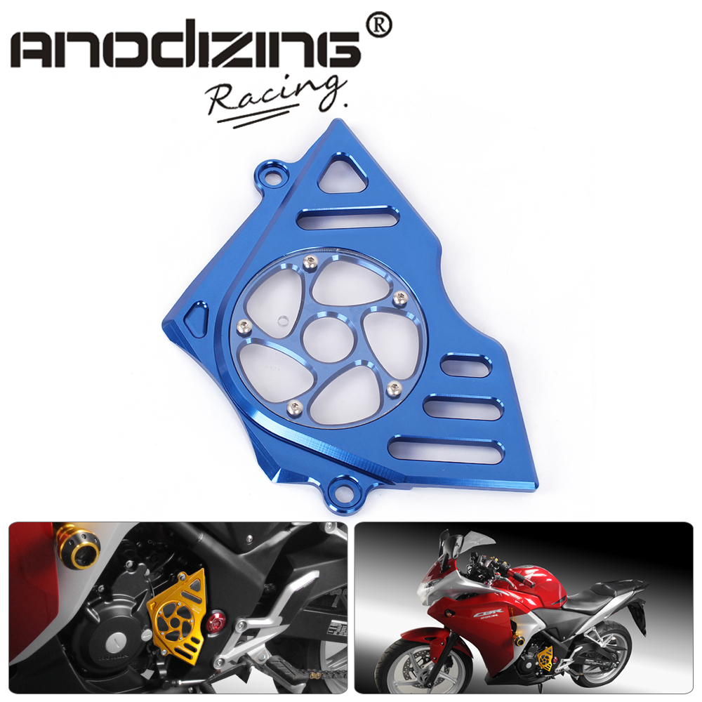 CNC Motorcycle Accessories Left Engine Front Sproket Chain Guard Protection Cover For Honda CBR250R  11-14 motorcycle accessories 650tr left front fender