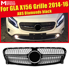 For MercedesMB X156 Sport grille grill Diamonds ABS Black Without Sign GLA-Class GLA180 GLA200 GLA250 GLA45 look grills 2014-16