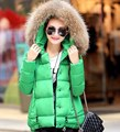 Women's Down Jacket Hooded Plus Size Down Wadded Coat Fur Collar Winter Jacket Women Parka Coats Manteau Femme Winter Coat MF783