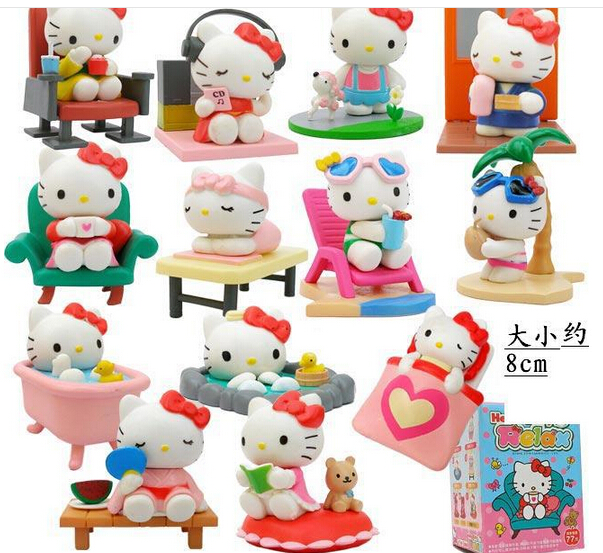 Hello Kitty 13 pieces of font b Action b font font b Figures b font 1