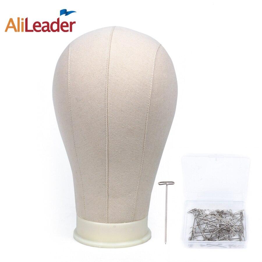 Alileader Mannequin Testa 20/21/22/23/24/25 pollici Beige Display Manichino Che Fanno Per Lo Styling tela Testa 50 Pcs T Dolori Regali Gratis