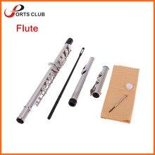 Западные мельхиор духовой концерт флейта палка посеребренные отвертка c отверстия деревянный