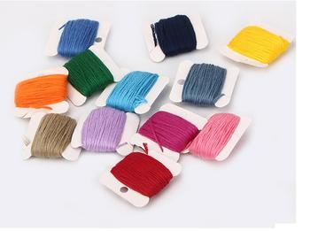 447cards 1pcs/8meter/color 447COLORS Cross Stitch Cotton Threads Sewing Set Craft Embroidery Threads Floss Kit Sewing Accessorie