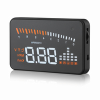 Electronic X5 Car Speed Projector OBD2 Head Up Display Auto Windshield Projector HUD Digital Car Speedometer Safety Accessories