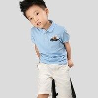 Children Kid Boy Polo Shirt Short Sleeved For Children Lapel Shirt For 2017 Children Summer Baby