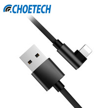 CHOETECH USB Cable For For iPhone XS Max XR X 8 8Plus 7 6 5V 2.4A Fast Charging Cable For iPad iOS 10 11 Phone Cables(China)