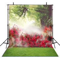 Bokeh Photography Backdrops Red Flowers Backdrop For Photography Scenery Background For Photo Studio Kids Foto Achtergrond