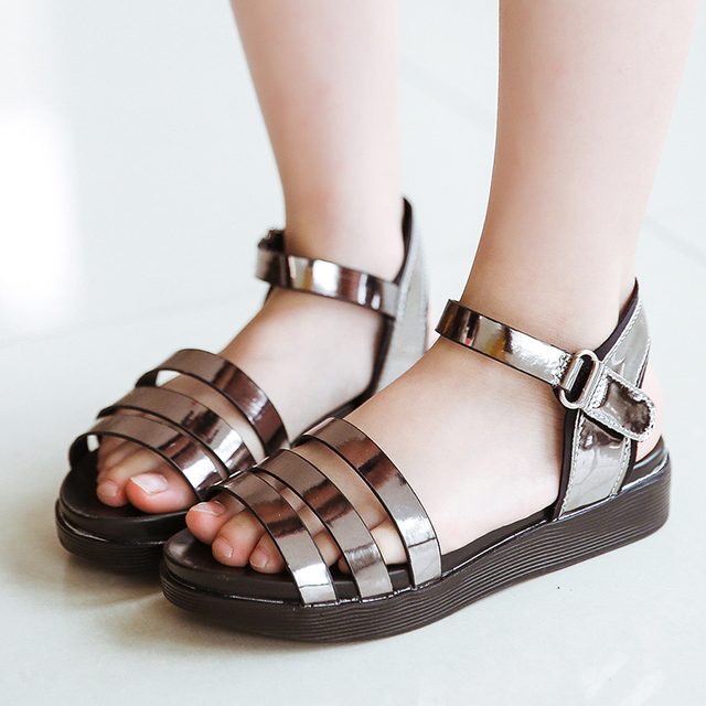 2a2d21ef70a27d 2018 Summer New Fashion Roman Sandals Girls Shoes Girls Princess Shoes Open  Toe Korean Children Sandals