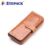 Borgasets 2014 NEW DESIGN Wallets 100 Genuine Leather Women Cowhide Purse Wholesale And Retail W040