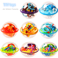 New 8pcs 3D maze  puzzle Ball Magic Intellect Ball 3D tract educational toys Puzzle Balance Logic Ability Game for kids gifts