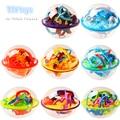 Nuevo 8 unids Pelota laberinto rompecabezas 3D Intelecto Bola Mágica 3D tracto Rompecabezas juguetes educativos Equilibrio Lógico Capacidad de Juego para los niños regalos