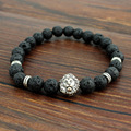 Tiger Eye Lion Head Bracelet Buddha Beads Bracelets Bangles Charm Natural Stone Mens Bracelet 2016 Men Jewelry Pulseras Hombre