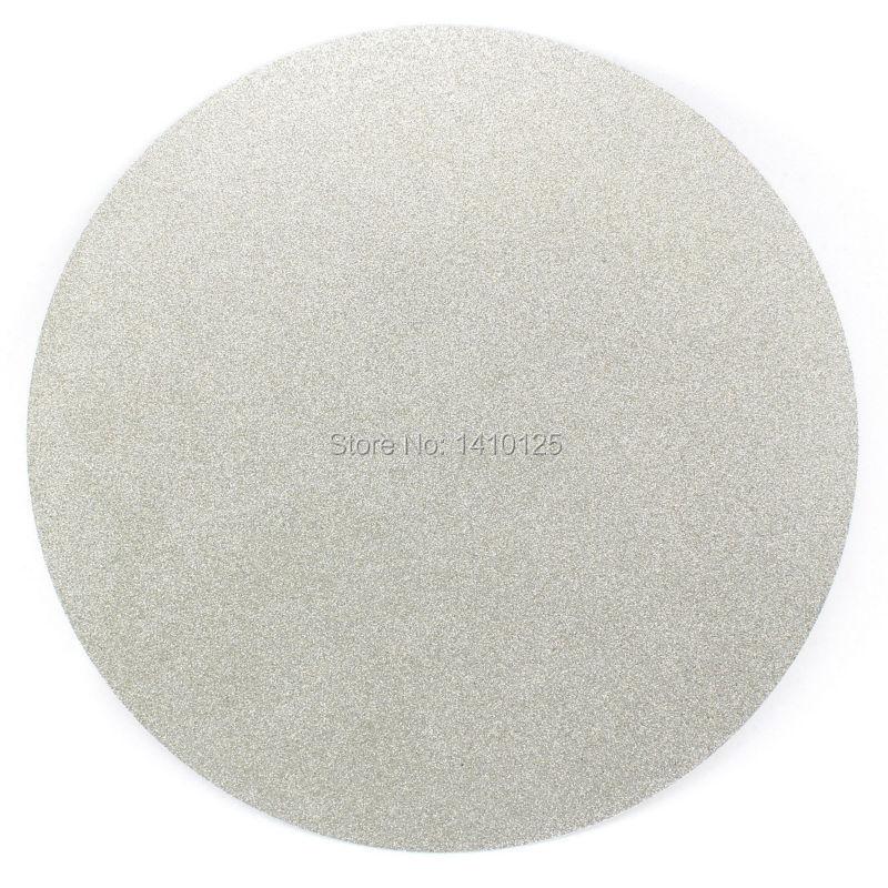 AUCUN CENTER TROU 12 pouces 300mm Grit 60-1000 Grit Type de Grossière à Fine revêtu de diamant Plat disque tour Broyage Polonais Roue
