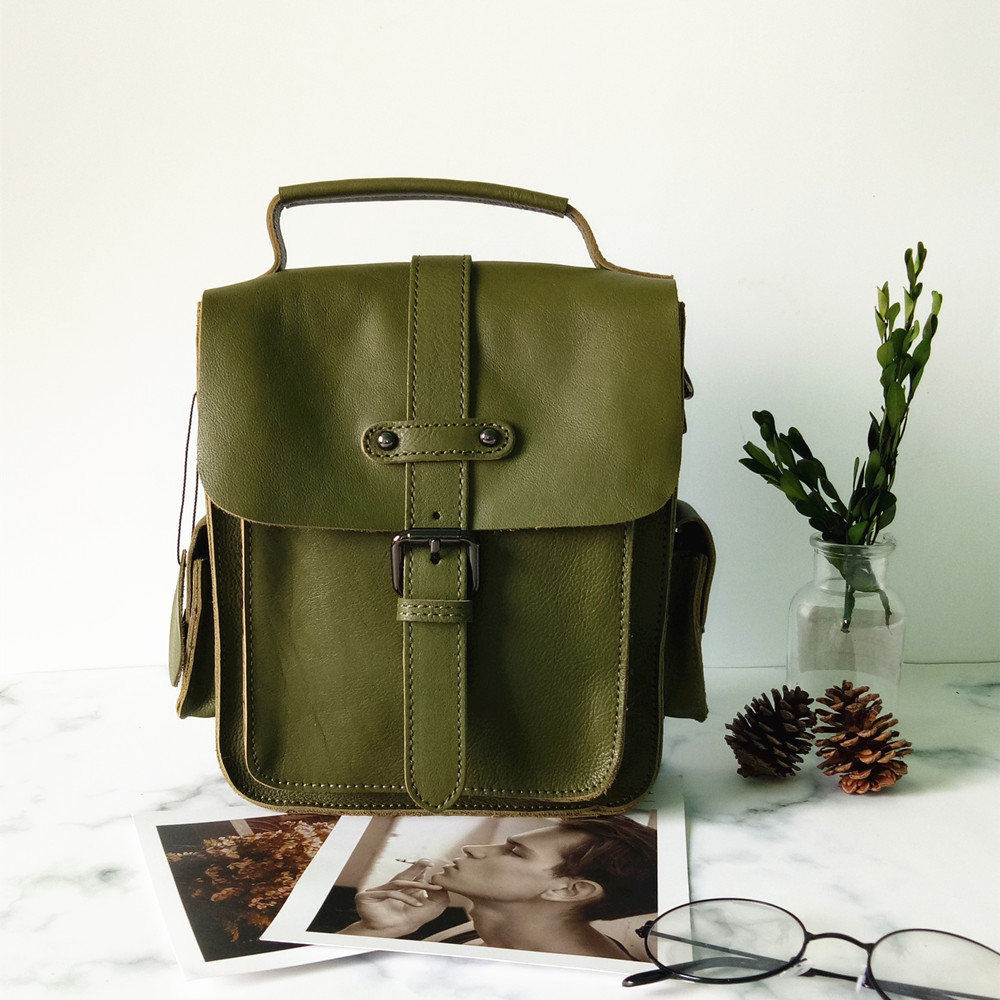 2018 novelty female summer small genuine leather messenger bag women casual soft leather army green one shoulder crossbody bag