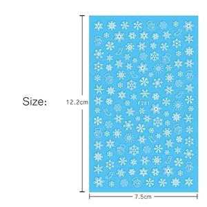 Image 2 - 1 Pcs 3D Nail Sticker Christmas Theme Pattern Mixed Deer/Snowflake Image Tips Nail DIY Decoration Sticker Decal LAF281 284