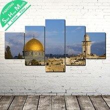 5 Шт. Иерусалим Картины Wall Art Холст Плакат и Печать Холст Картины Декоративная Картина Холст