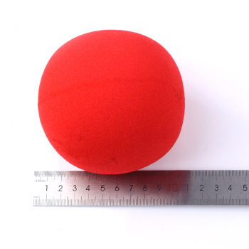 1pcs Big Red Magic Sponge 10cm Diameter Ball Soft Ball Excellent Elasticity Classic Ball Street Close Up Magic Props 3pcs set professional four side elasticity stage magic juggling ball toys ball