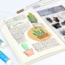 Cactus Transparent Silicone Stamp Seal Cute Animal Clear Stamp for Scrapbooking DIY Photo Album Diary Book Decorative Stamp New