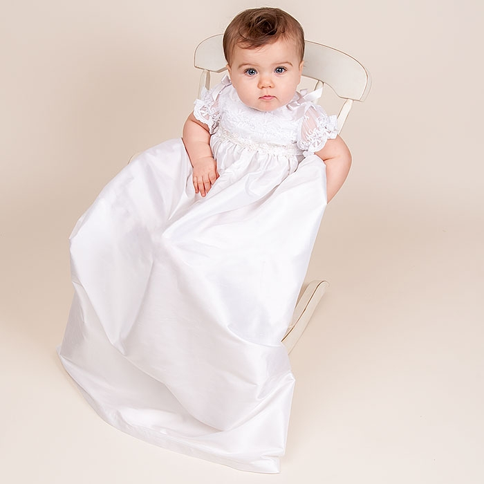 With Hat Baby Baptism Dresses Summer style baby dress White and land ...