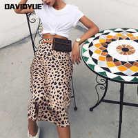 Leopard druck rock frauen A-linie hohe taille rock wilde midi röcke frauen dinge sexy lange röcke Sommer 2019
