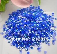 Wholesale Large Quantity 10000pcs Sapphire Blue Magic Color AB Jelly 6mm Resin Rhinestones Mobile Phone Stick
