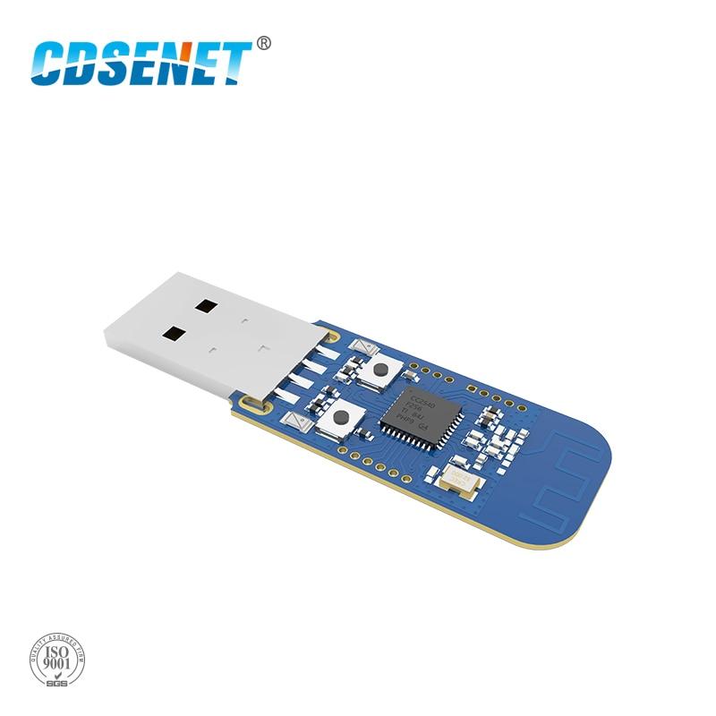 Zigbee cc2531 caso 4dbm transceptor sem fio E18-2G4U04B conector usb io porto iot pcb antena 2.4 ghz transmissor e receptor