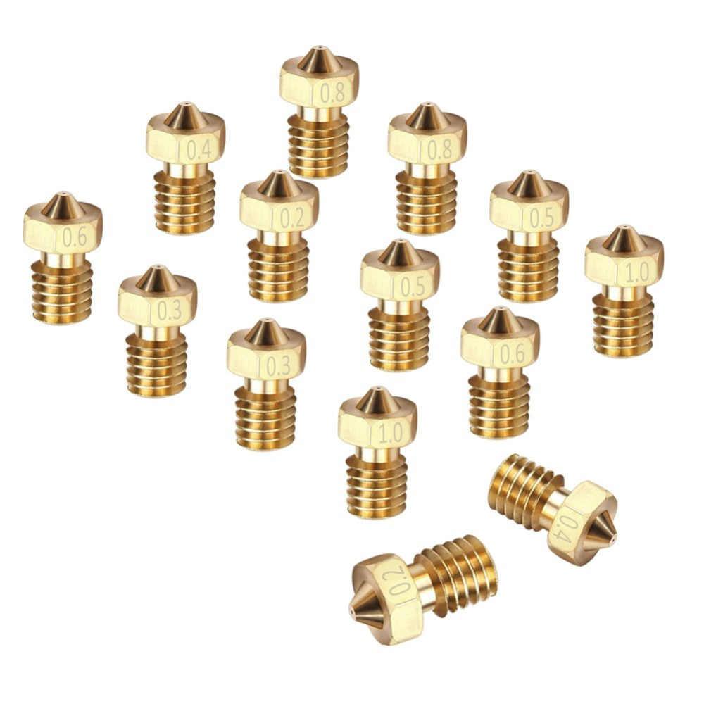 Dysza V5/V6 do drukarek 3D 0.2/0.3/0.4/0.5/0.6/0.8/1.0mm miedź 1.75mm Filament M6 gwintowany mosiądz do drukarek 3D