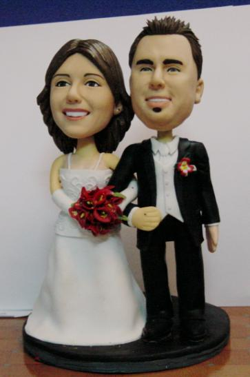 Polymer Clay Wedding Cake Toppers