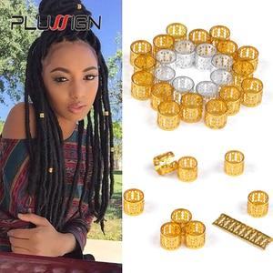Image 2 - Best Dreadlock Tools Hair Briad Cuff Rings For Braids Dread Beads For Crochet Hair Dreadlock Jewelry 1000Pcs Silver Hair Beads