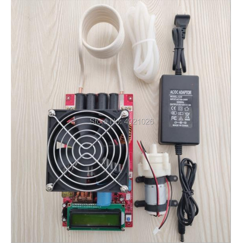 ZVS 2000W High Frequency Induction Heater Module Flyback Driver Heater Good Heat Dissipation + Coil +pump +power Adapter