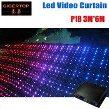 Fire Proof P18 3M 6M LED Video Curtain Mini Curtain Controller For DJ Wedding Backdrops 90V