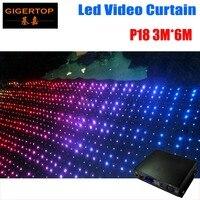 Fire Proof P18 3M*6M LED Video Curtain Mini Curtain Controller For DJ Wedding Backdrops 90V 240V Sandisk Program Memory Card