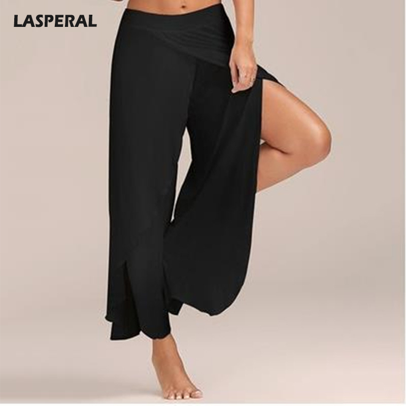 LASPERAL 2017 Summer Chiffon Wide Leg Pants Women Causal ...