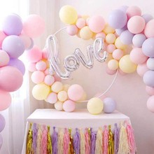 Get more info on the 100pcs 10inch macarons color latex balloons for birthday party wedding room decoration rainbow balloon children's gift supplies