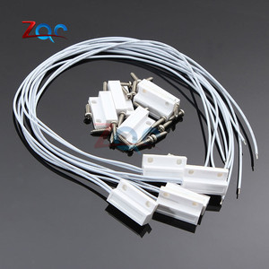 Image 1 - 5 Sets MC38 Wired Door Window Sensor N/C N/O Switch Magnetic Alarm 330mm Length 100V DC Normally Closed/Opened for Home Safe
