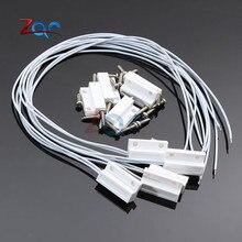Sensor de ventana de puerta con cable MC38, interruptor N/C/N/O magnético, alarma de 330mm de longitud, 100V CC, normalmente cerrado/abierto para seguridad en el hogar, 5 Juegos