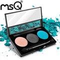Msq new 3 cores quentes da paleta da sombra de cosméticos da sombra de olho maquiagem beleza make up set